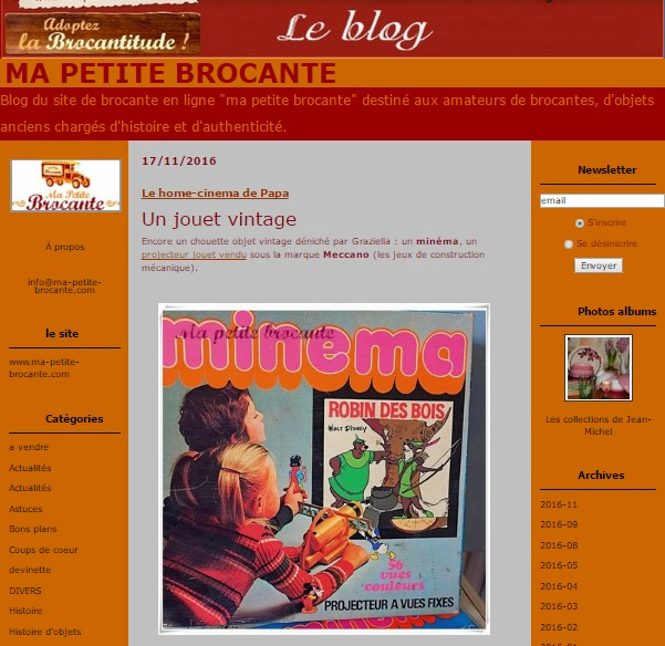 Lien vers le blog