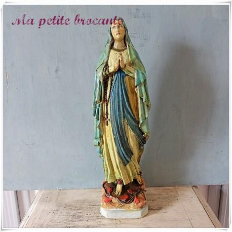 Statue vierge en platre